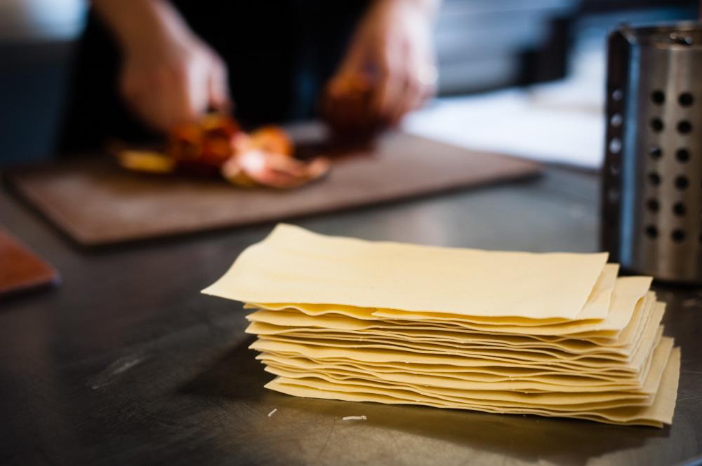 płaty makaronu do przygotowania lasagne